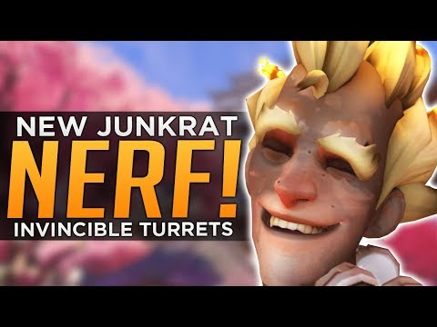 Overwatch: New JUNKRAT NERF Already! - Invincible Sym Turrets!