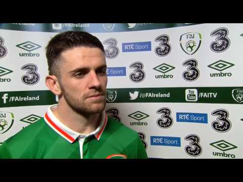 Republic of Ireland v Iceland - post-match interview - Robbie Brady (28/3/17)