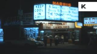 1970s New York, Times Square at Night, Rare Home Movie Footage