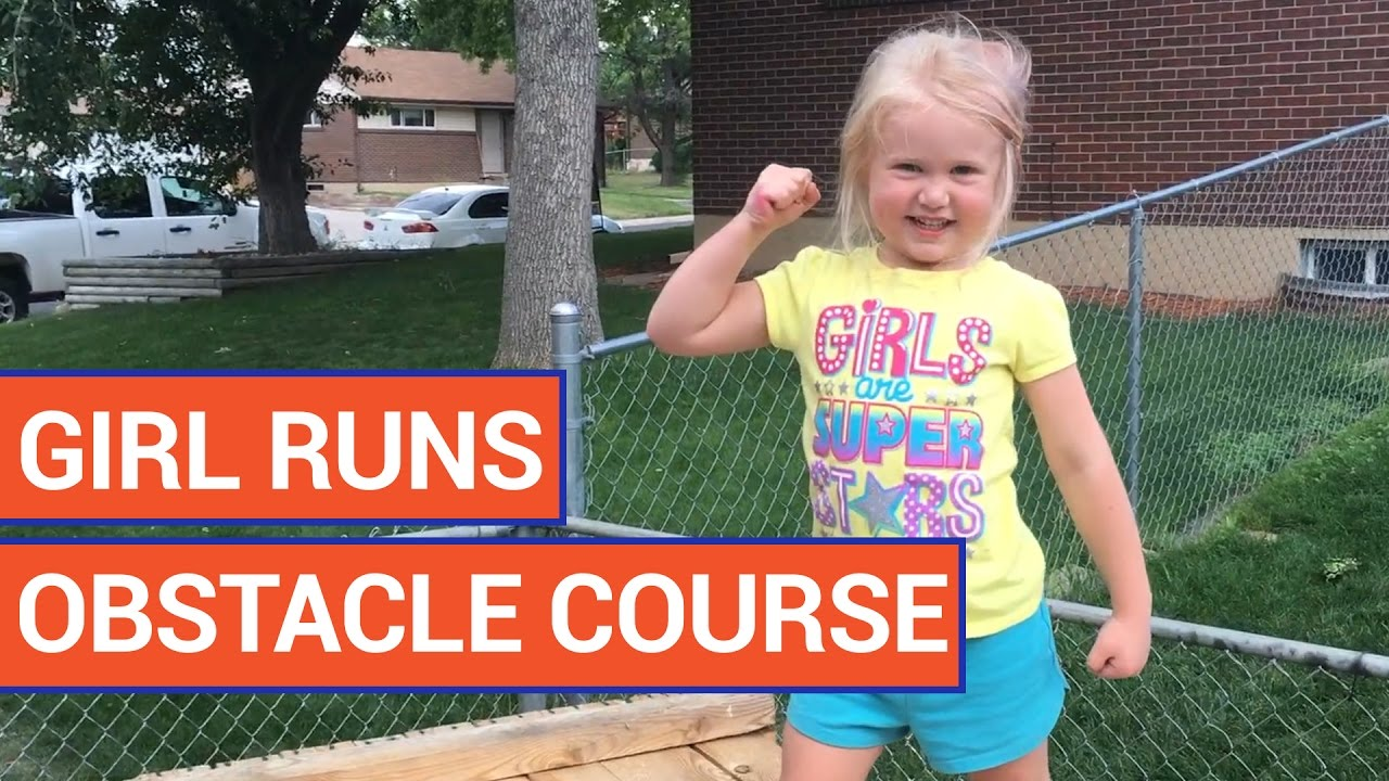 Dad Creates Obstacle Course For Daughter Video 2016 | Daily Heart Beat