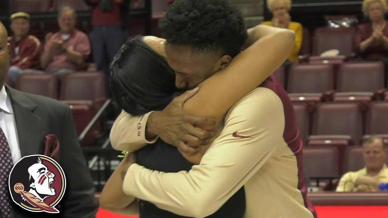 Senior Day Surprise! FSU Mom Flies From Columbia To Reunite With Braian Angola