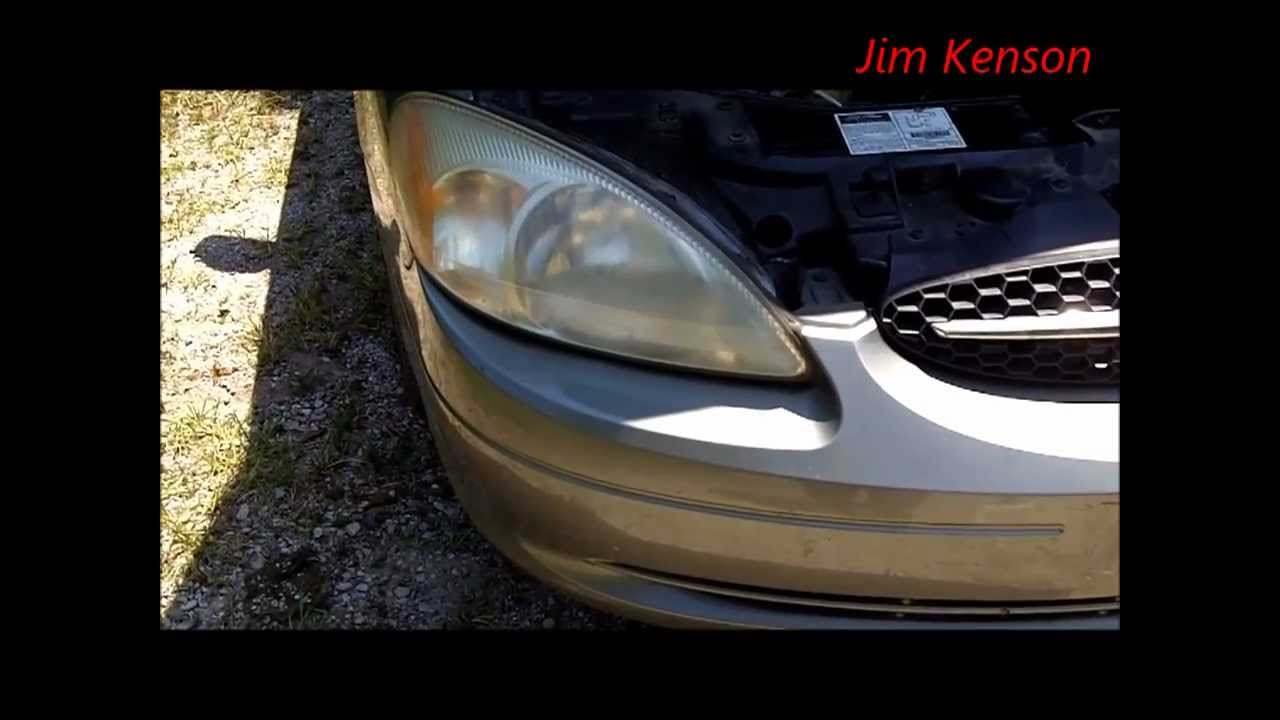 Ford Taurus Headlight Replacement Youtube