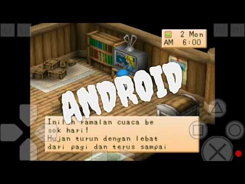 Cara Instal Game PS1 Di Android Tanpa Root || Harvestmoon Back To Nature Bahasa Indonesia