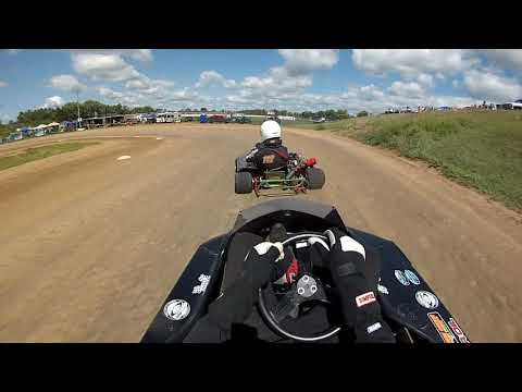 Rice Lake Speedway Kart Track, 8-24-2019. Hot Laps