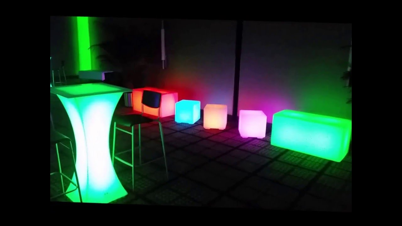 Glow Furniture Led Light Up Glow Furniture Before And After For Sale Youtube