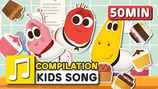 MUFFIN MAN and other songs | 50 min | LARVA KIDS | Nursery Rhyme for baby, toddler and kids