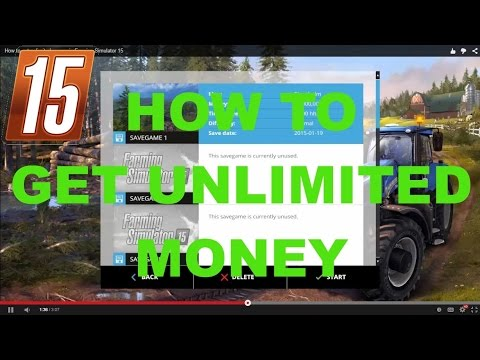 How to get unlimited money in Farming Simulator 15