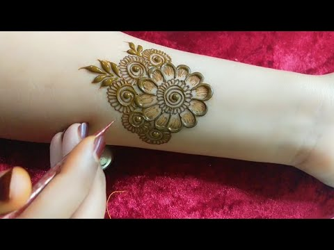 VERY BEAUTIFUL LATEST FLORAL ARABIC HENNA MEHNDI DESIGN FOR FRONT HAND || Tais Henna||Tehseens Henna