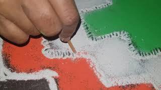 Respect india republic spacial rangoli with colours
