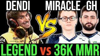 Video Miracle- GH vs Dendi - 36K Highest MMR Team vs Legend Dota2 download MP3, 3GP, MP4, WEBM, AVI, FLV November 2017
