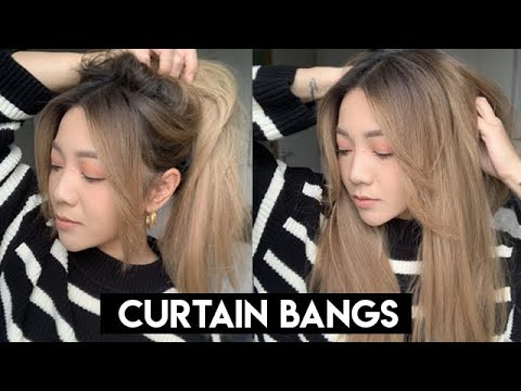 How To Cut Curtain Bangs Easy To Follow Youtube