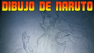Dibujo de Naruto Modo Kyubi | Drawing of Naruto Modo Kyubi | PART1