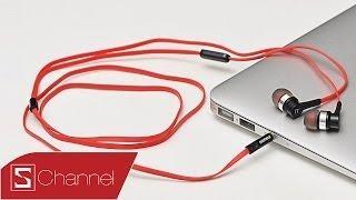 Schannel - Tai nghe giá rẻ Remax RM-535: Thiết kế nhôm, dây dẹt chống rối, có mic - CellphoneS
