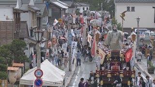街道に色鮮やかな山車 370年続く北海道・姥神大神宮渡御祭