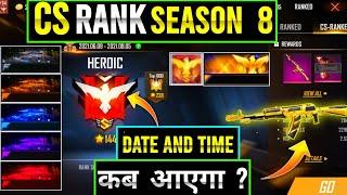 clash squad rank season 8 confirm date and time  freefire cs rank season 8  free an94
