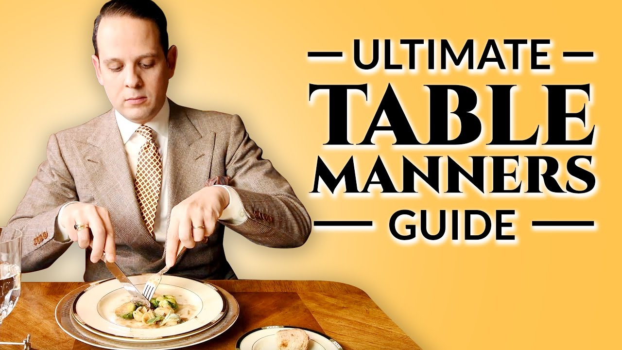 guide for table manners for adults