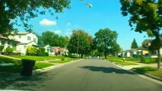 Driving from Detroit, Michigan to Saint Clair Shores, Michigan
