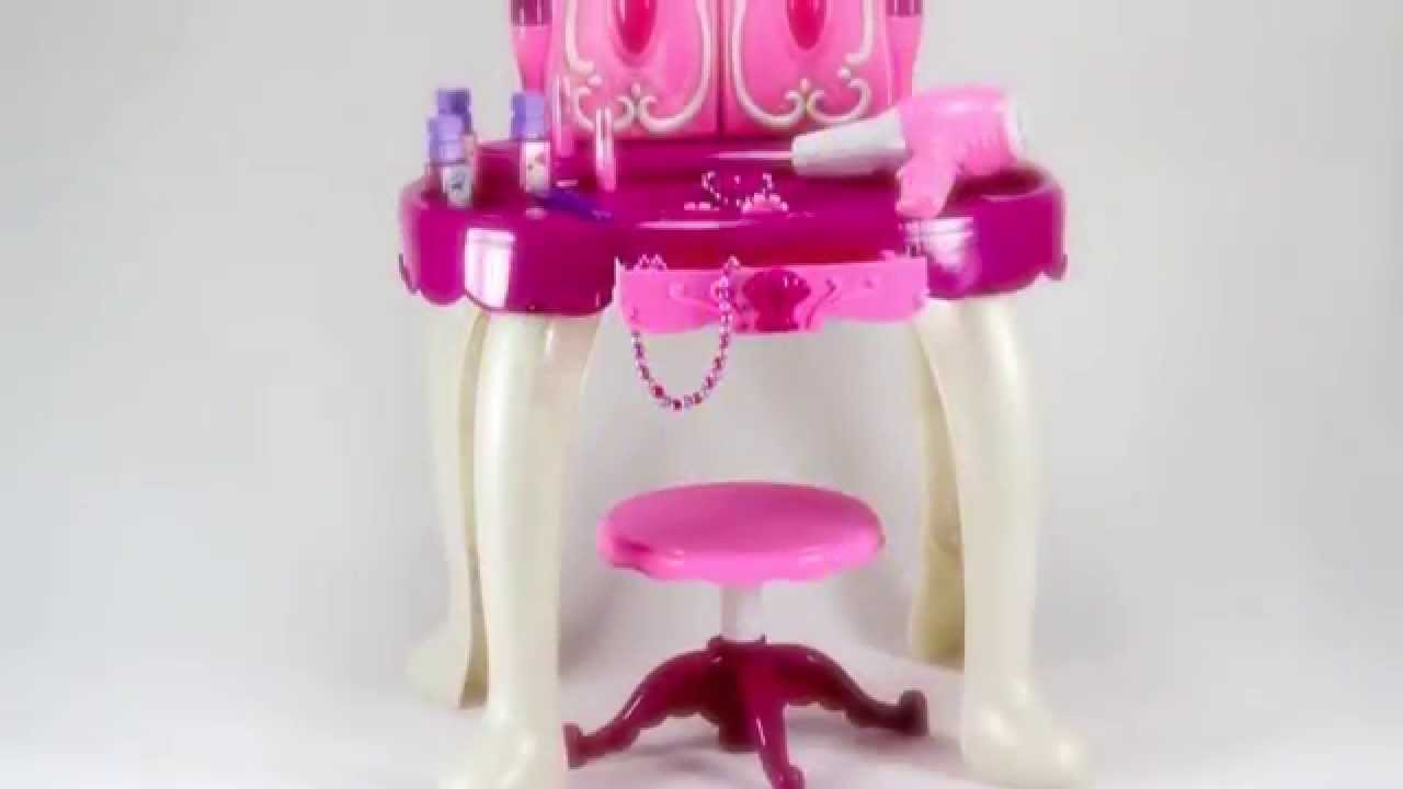 Glamour mirror and dressing table set youtube geotapseo Image collections