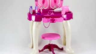 Glamour Mirror And Dressing Table Set