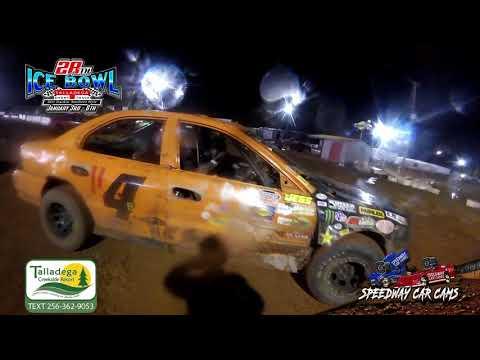 #114 Kameron Busby - Hotshots - 1-6-19 Talladega Short Track - In Car Camera