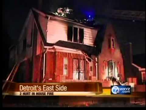 House fire on Detroit's east side - YouTube