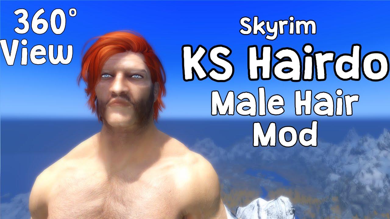 360 View Skyrim Ks Hairdo 265 Male Hair Mod Full Reference