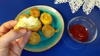 Блюдо из картошки Крокеты Картофельные шарики с сыром Простой рецепт
