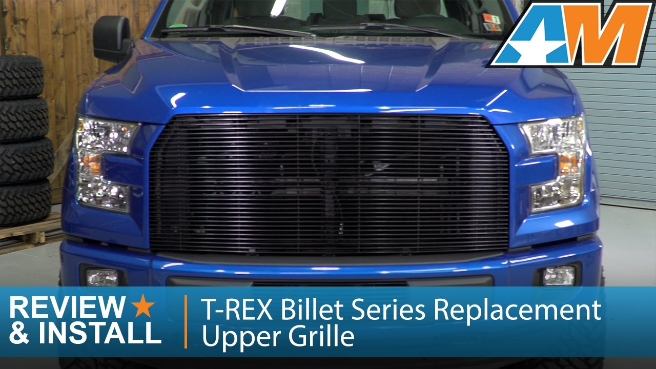 2015 2017 ford f 150 t rex billet series replacement upper grille review install