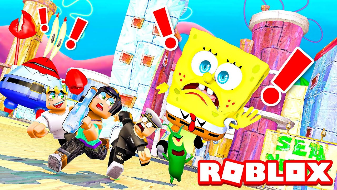 Stealing the SECRET FORMULA from the Krusty Krab in Roblox