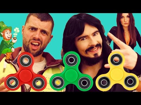 Irish People Try 'FIDGET SPINNERS' - New Tricks Challenge!!