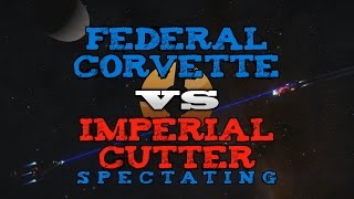 Federal Corvette vs Imperial Cutter PvP - Elite Dangerous