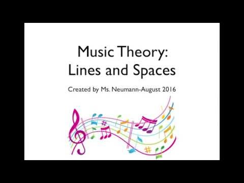 Music Theory Lines and Spaces