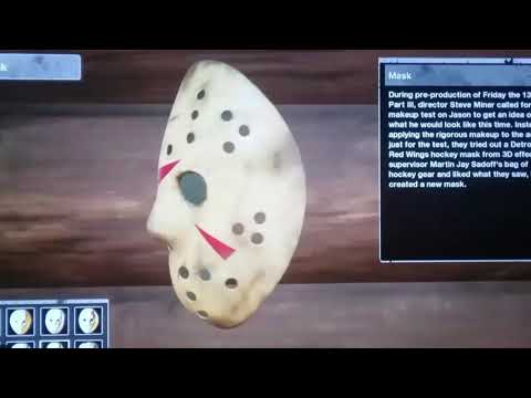 FRIDAY THE 13TH GAME ALL OF JASON'S MASKS.