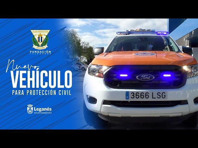 La Fundación C.D. Leganés entrega un nuevo vehículo a Protección Civil