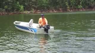 Modified 14' Aluminum V Hull Jon Boat