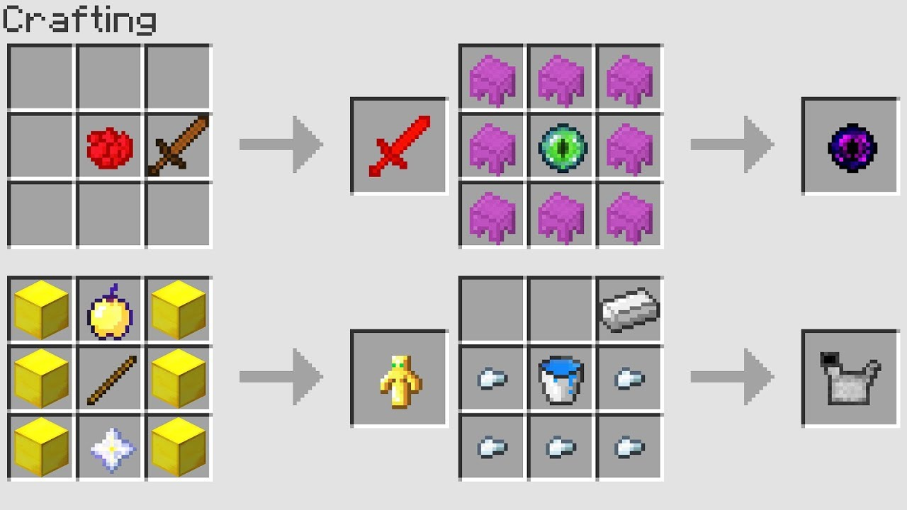 Minecraft Windows  Edition Crafting Recipes