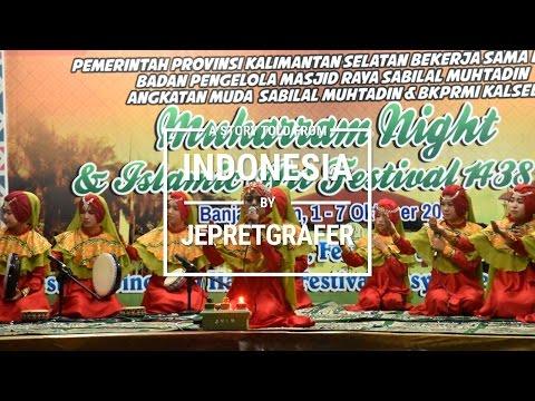 Maulid Habsyi Ar Raudah, Karang Intan, Martapura, Banjar - Islamic Art Festival 1438 H / 2016