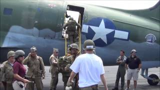 Video shows a low level parachute drop performed by the WWII Airbor...