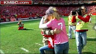 Soldier's Fiancee Gets Surprise At Arrowhead