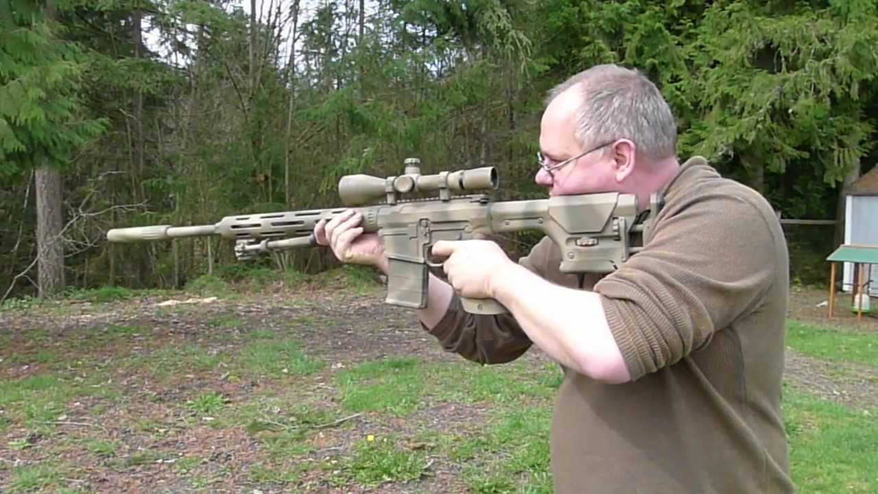 .308 Sniper Rifle with AAC Sound Suppressor - YouTube M110 Sniper Rifle Suppressed