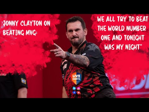 """Jonny Clayton on beating MVG: """"We all try to beat the world number one and tonight was my night"""""""