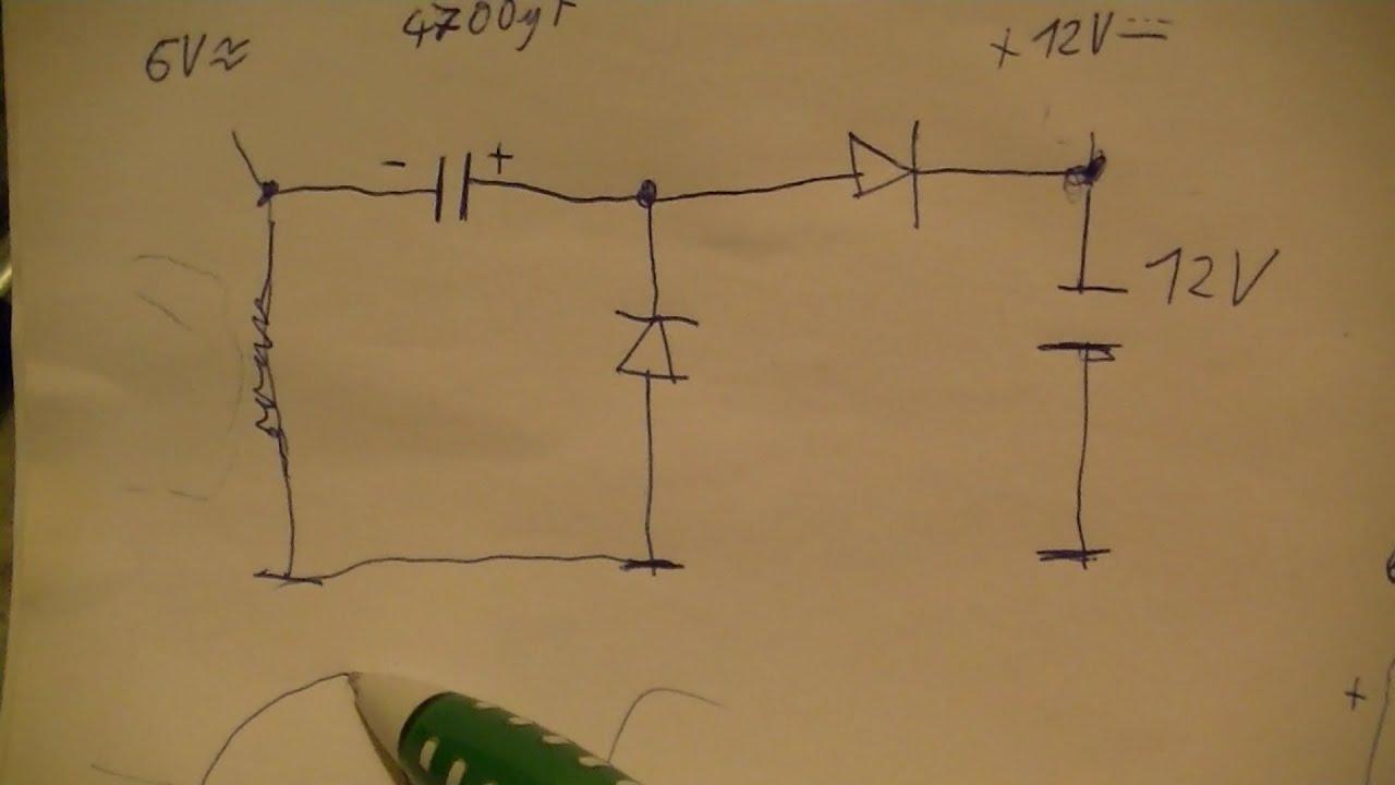 spannungsverdoppler voltage doubler f r mofa fahrrad und. Black Bedroom Furniture Sets. Home Design Ideas