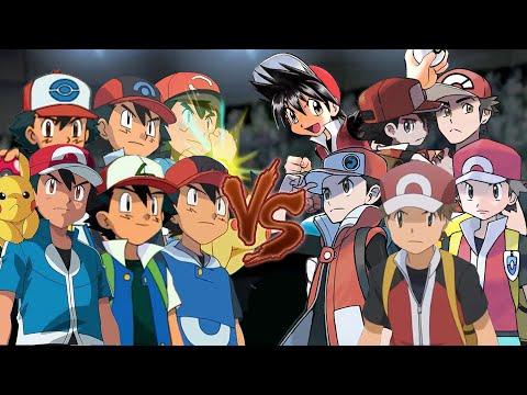 Pokemon Battle USUM: All Ash Vs All Red (Pokemon Ash Vs Red)