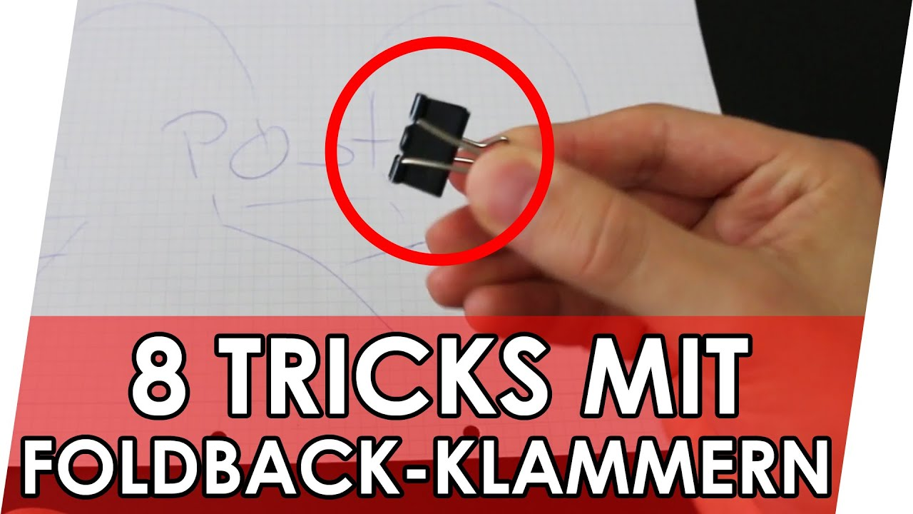 8 geniale life hacks mit binder clips geniale fakten tricks life hacks deutsch youtube. Black Bedroom Furniture Sets. Home Design Ideas