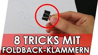 8 Tricks mit Foldback-Klammern | Geniale Fakten, Tipps & Tricks