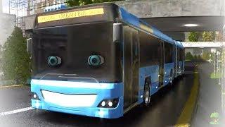 The Wheels On The Bus | Kindergarten Rhymes for Babies | Speedies Car Cartoons  - Little Treehouse