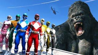 Video POWER RANGERS VS KING KONG - GTA 5 KONG SKULL ISLAND MOD !!! download MP3, 3GP, MP4, WEBM, AVI, FLV Agustus 2018