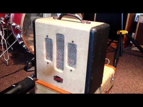 1947/48 National COMET guitar amp DEMO with Telecaster