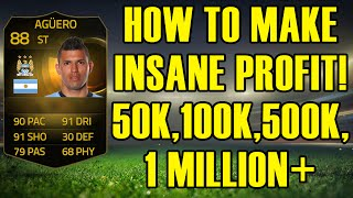 HOW TO MAKE INSANE PROFIT - 50K, 100K, 500K, 1M+ - FIFA 15 ULTIMATE TEAM  INFORM UPGRADE INVESTING Thumbnail