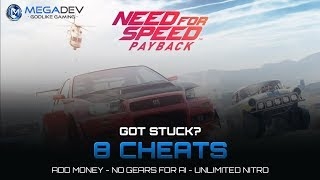 NEED FOR SPEED PAYBACK CHEATS: Unlimited Nitro, Add Money, No Gears for Ai, ... | Trainer by MegaDev